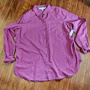 Old Navy The Classic 100% Cotton Plaid Shirt NWT